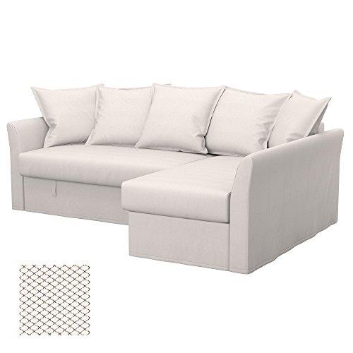 Soferia - IKEA HOLMSUND Funda para sofá Esquina, Nordic White