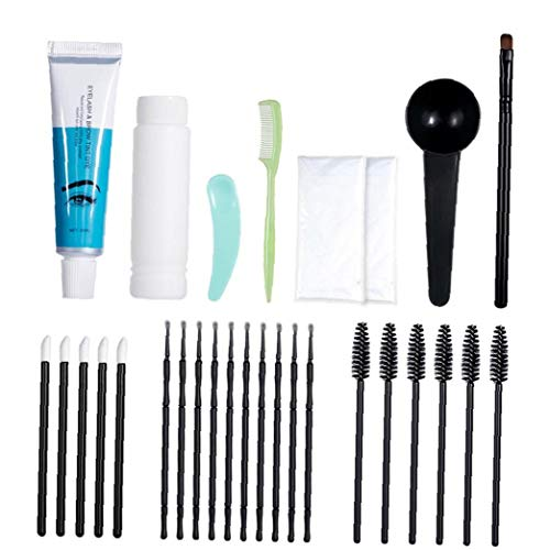 lujiaoshout Wimpern Farben Set Semi Permanent Wimpern Farben Kit Professionelle Brow Färbecreme Wasserdicht Sofort Farbe Farbton mit Bürsten-Verfassung Werkzeuge...
