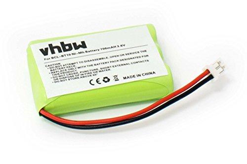 vhbw Akku passend für Brother IntelliFax-1960c, BCL-D10, BCL-D20, FAX-1960C, MFC-2580c, MFC-845cw ersetzt BCL-BT10, LT0197001 (700mAh,3.6V, NiMH)