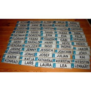 Albatros - NAMENSSCHILD Autokennzeichenform MINI Jasmin