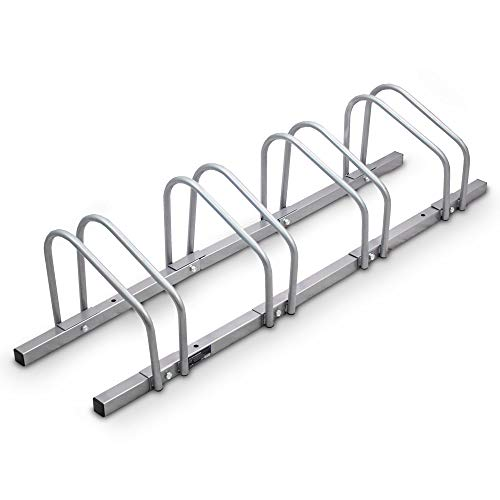 BITUXX® Fahrradständer Aufstellständer Radständer Fahrrad Bike Ständer Metall Platzsparend (Für 4 Fahrräder)