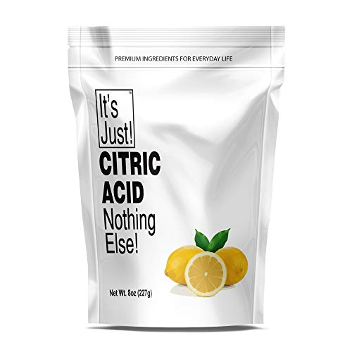 It's Just - Citric Acid (Food Grade) Non-GMO, Make Your Own, Bath Bombs, Sour Drinks, Household Cleaning (8oz)