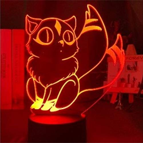 Kids Night Light Gift Night Lights For Girls Night Light For Boys Night Light 3d Inuyasha Kirara Figure 16 Colors And 7 Colors Changing Touch And Remote Control Usb Charging Model Gifts For Children K