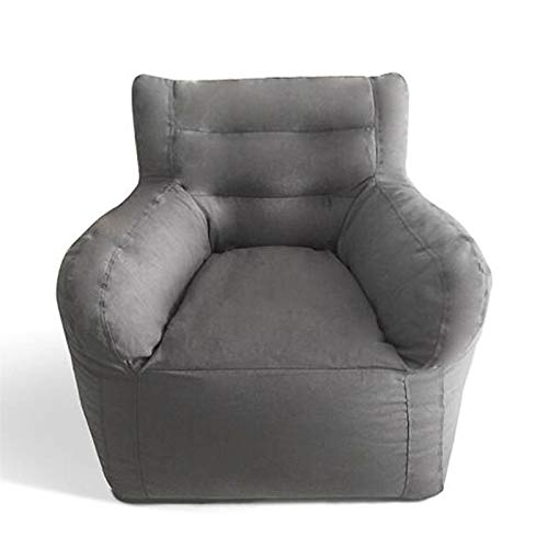 ZYSTMCQZ Bolsa de Frijol Grande Cubierta de sofá Silla Sillón Sofá Sala de Estar Muebles de Dormitorio sin Relleno Beanbag Cama Sofá Lazy Tatami (Color : Gray)