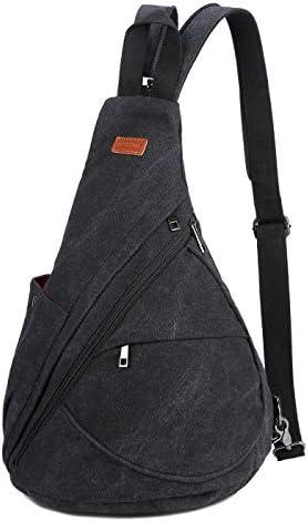 BAOSHA Canvas Sling Bag Small Crossbody Backpack Shoulder Casual Daypack Outdoor Cycling Hiking product image