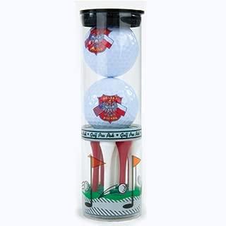 Polish Themed Golf Balls & Tees - Poland & U.S. Flags & Eagle Shield. Golf Balls are Imprinted w/ The Polish White Eagle Coat-of-Arms & The Polska & USA Flags.