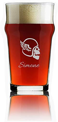 Generico Bicchiere da Birra Personalizzato Pinta da Birra Inciso Personalizzabile con Nomi, Testo, Data, Design e Caratteri Diversi (1)