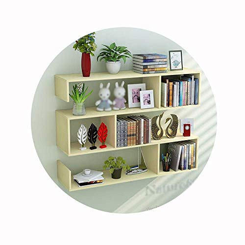 PLLP Wall-Mounted Decorative Racks,Shelving MDF Compartment Storage Rack Wall-Mounted Creative Bookshelf for Storage and…