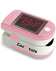 Zacurate Portable and Reliable Fingertip Pulse Oximeter, Accurate Heart Rate Monitor with Lanyard and Batteries Included (Pink)
