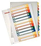 ESSELTE Rubrica PPL extra numerica 1-12 con indice stampabile a PC - f.to A4 MAXI - 100214