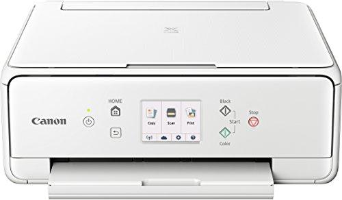 Canon PIXMA TS6151 Farbtintenstrahl-Multifunktionsgerät (Drucken, Scannen, Kopieren, 5 separate Tinten, WLAN, Print App, automatischer Duplexdruck, 2 Papierzuführungen) weiss