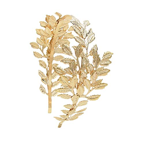 Lurrose Hermosas hojas para el pelo, diadema nupcial, tocado de boda, magnífica...