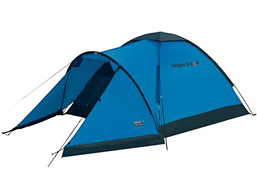 High Peak Kuppelzelt Ontario 3, Campingzelt mit Vorbau, Iglu-Zelt für 3 Personen, 1500 mm wasserdicht, Ventilationssystem, Wetterschutz-Eingang, Moskitoschutz
