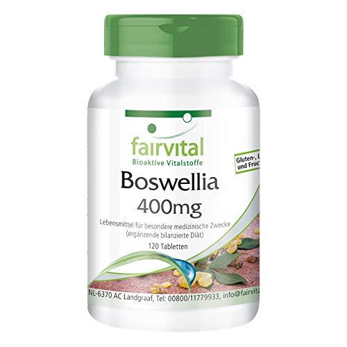 Boswellia Serrata 400mg - Extrait avec 65% d'acides boswelliques - VEGAN - 120 comprimés