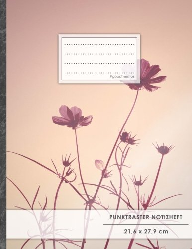 "Punktraster Notizbuch • A4-Format, 100+ Seiten, Soft Cover, Register, ""Abenddämmerung"" • Original #GoodMemos Dot Grid Notebook • Perfekt als Skizzenbuch, Tagebuch, Handlettering Übungsbuch"