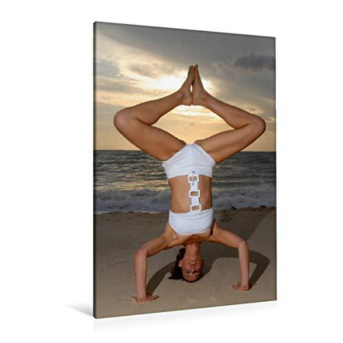 Premium Textil-Leinwand 80 x 120 cm Hoch-Format Yoga Körperformen   Wandbild, HD-Bild auf Keilrahmen, Fertigbild auf hochwertigem Vlies, Leinwanddruck von Tobias Indermuehle