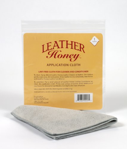 Leather Honey Leather Conditioner Lint-Free Application Cloth: Microfiber Cloth for Use and Leather Cleaner, The Best Leather Care Products Since 1968