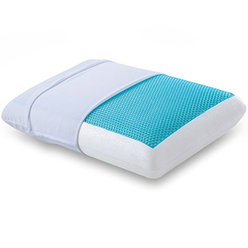 Comfort & Relax Reversible Memory Foam Gel Pillow for Sleeping Cool,...