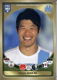 2016-17 Panini FIFA 365#155 Hiroki Sakai Olympique de Marseille Soccer Sticker