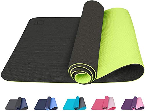 Colchoneta de yoga La colchoneta de yoga antideslizante gruesa y duradera es ecológica, antideslizante, adecuada para yoga, pilates, meditación, fitness, gimnasia