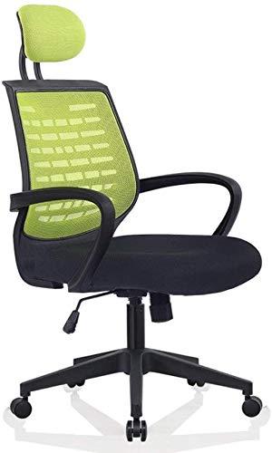 BeingHD Qualitätsbürostuhl, Bürostuhl mit Armlehne Bürostuhl, Mesh Office Computer Swivel Desk Task Chair, ergonomischer Executive Chair mit Armlehnen (Color : Green)