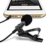 Noise cancelling for recordings lavalier microphones record clean and clear sound for professional results. Perfect sound: condenser adopts material to reach strong noise cancelling effect, no matter outdoor, walking on the street, in the windy weath...