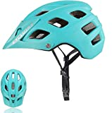 Exclusky Mountain Bike Helmet, Easy Attached Visor Safety Protection Comfortable Lightweight Cycling Mountain