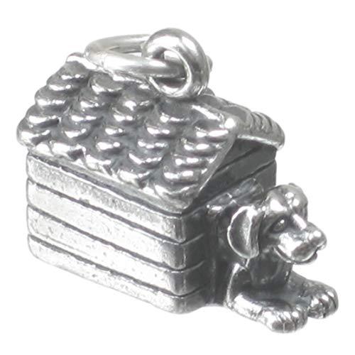 Hund in Hundehütte-sterling-Silber Hund, Hundehütten, Zwinger SSLP2725