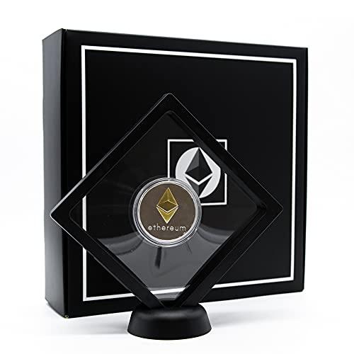 PF Ethereum Physikalische Münze mit Präsentationsständer Farbe Silber, Sammlerstück mit exklusiver Box