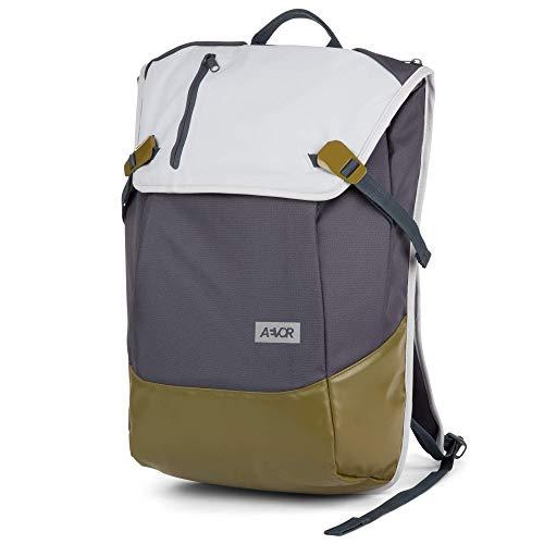 AEVOR Rucksack Bookpack für die Uni und Freizeit inklusive 15 Zoll Laptopfach und Skateboard Tragesystem Chilled Blau