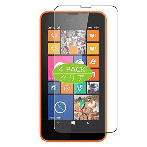 VacFun 4 Piezas HD Claro Protector de Pantalla Compatible con Nokia Lumia 635/630, Screen Protector Sin Burbujas Película Protectora (Not Cristal Templado) New Version