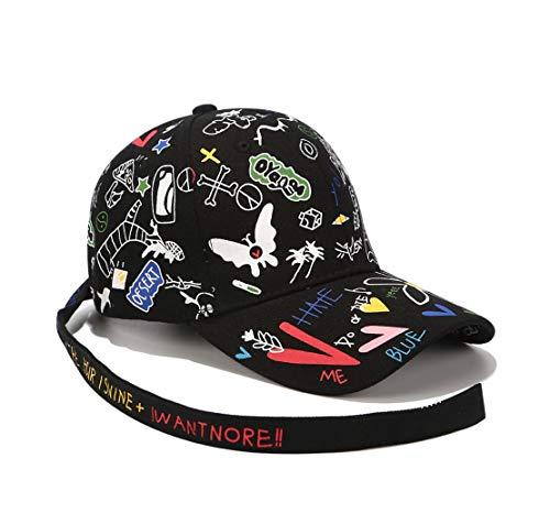 XibeiTrade - Gorra de béisbol - para hombre Negro Butterfly Black M
