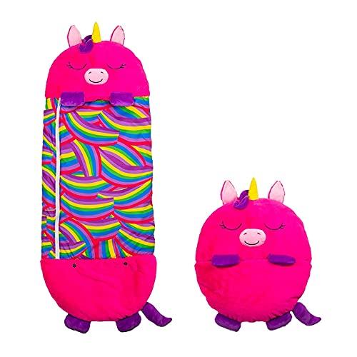 Happy Nappers Einhorn pink Medium | Spielen - kuscheln - schlafen | Flauschiger Kinderschlafsack | 4 verschieden Motive | Das Original aus dem TV