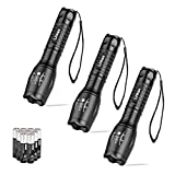 Linkax LED Torch Tactical Flashlight 3 Pack Super Bright Handheld Flashlights 5 Modes Pocket Torch for...