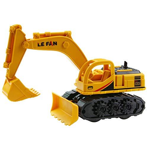 Xyanzi Juguetes para Bebés Juego De Juguetes De Construcción Vehículos De Ingeniería Temprana Excavadora 4 En 1 para Niños, Trituradora, Máquina De Ventosa, Cargador De Agarre
