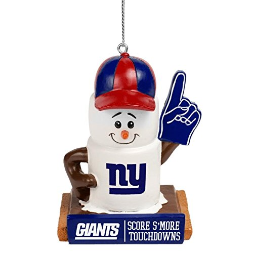 FOCO NFL New York Giants Holiday Hanging Tree Smores OrnamentHoliday Hanging Tree Smores Ornament, Team Color, One Size