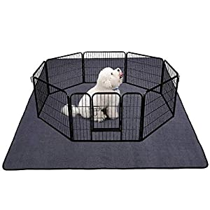Yistao Dog Pen Mat, Extra Large 72″ x 72″ Washable Puppy Pads Pee Pads for Dogs Non-Slip Waterproof Dog Mat for Floors Super Absorbent Dog Pads for Whelping Playpen Incontinence Crate Training