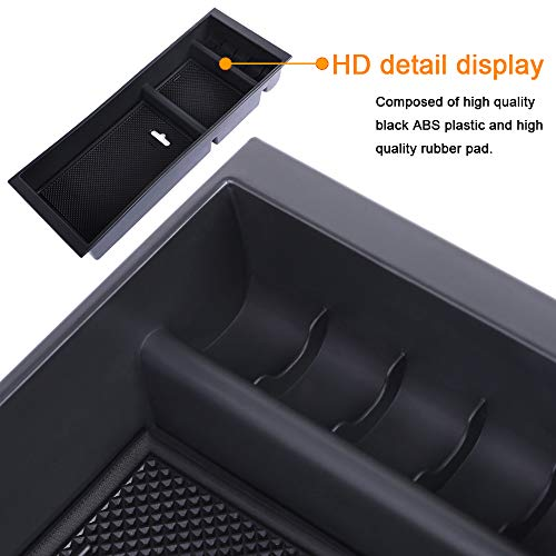 JDMCAR Center Console Armrest Insert Organizer ABS Tray Pallet Storage Box Container Compatible with Ford F150 2015 2016 2017 2018 2019 2020