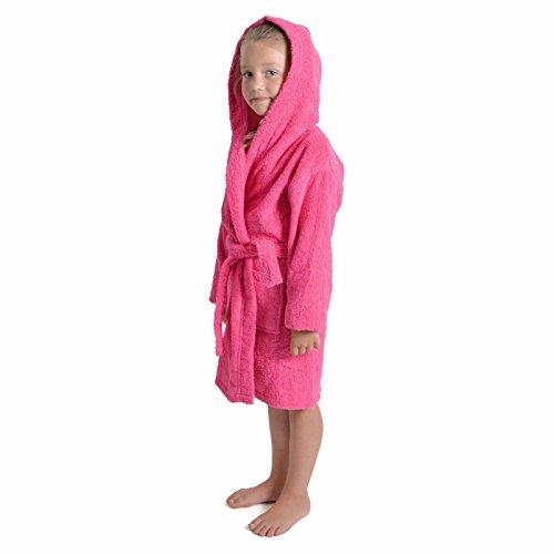 Albornoz con capucha para niños y niñas, 100% transpirable