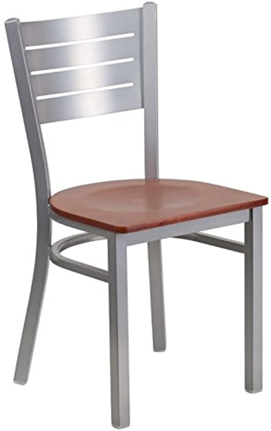 Bowery Hill Restaurant Dining Chair in Cherry and Silver