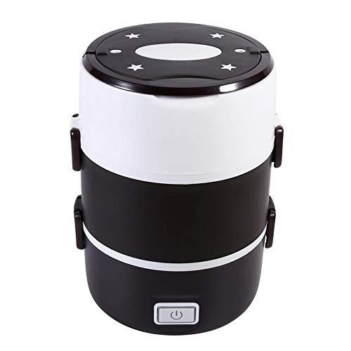 Caja de almuerzo de calefacción eléctrica, caja de almuerzo de calefacción eléctrica portátil de 3 niveles Juego de recipiente de comida caliente Bento Box 220V