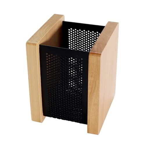 ペン立て 木製 ペンスタンド おしゃれ 木目 卓上 収納ケース 鉛筆 筆 文具 雑貨整理 小物入れ 社内 上司 プレゼント 2色