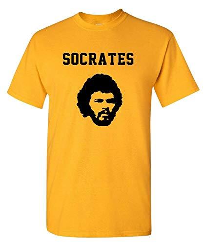 Socrates Brazil 70s Football Coupe Du Monde T-Shirt Yellow XL