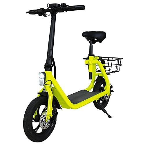 E-rider OL2, Scooter Eléctrico, 250 W, hasta 30 km de autonomía, Verde y Negro