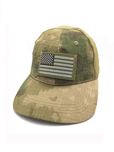 B-Sheep Tactical Operator Caps with Loop Panel for Patches Buy Cap Get 3 USA Flags Patches. (Camo-Light)