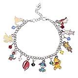 Winnie the Pooh Bracelet Winnie The Pooh Jewelry Anime Cartoon Pooh Charm Bracelet Gifts for Women(NBR-Pooh)