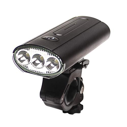 Leiouser bicicleta luz delantera USB recargable bicicleta linterna faro MTB Latern lámpara luz trasera Ciclismo Accesorios