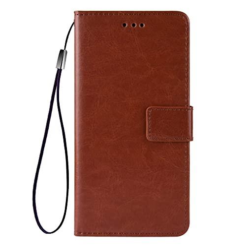 GOGME Funda para Xiaomi Poco X3 GT con Billetera, Premium Leather PU/TPU Libro Piel de Cuero Flip Carcasa Case Cover con Ranuras para Billetera y Tarjetas, Marrón