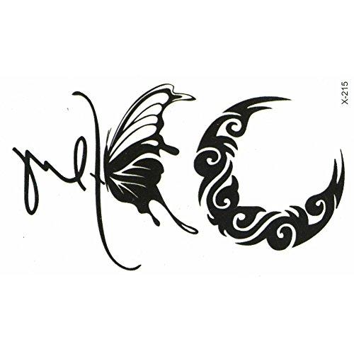 JUSTFOX - Tatouage éphémère papillon demi lune.