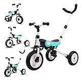 3in1ベビーカー 折りたたみ三輪車 押し車 バランス かじ付 組み立て簡単 自転車 子供用 発泡タイヤ 超軽量コンパクト 新型 便利